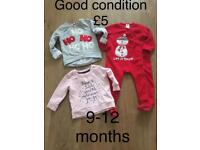 Christmas clothes 9-12 months