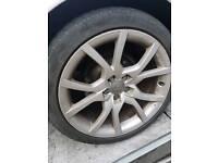 Full set of audi 18inch alloy wheels