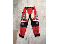 Fox racing motocross kids trousers