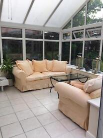 John Lewis 3+2+1 sofa & chair suite