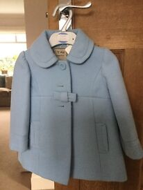 Girls Xmas/smart winter coat with matching hat and gloves