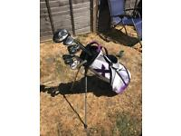 Men's right handed Callaway golf clubs & bag