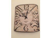 Next vintage look wall clock