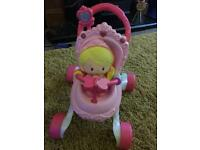 Fisher Price Musical Stroller with Fisher Price Doll