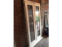 Double patio door