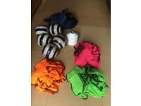 FOOTBALL BIBS, CONES & BALLS - GREAT CONDITION