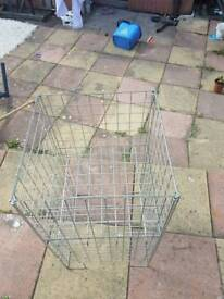 Advertising cage for car boot or shop