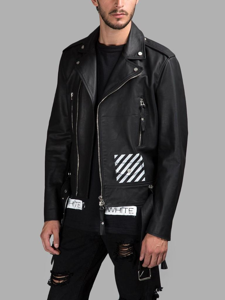 OFF WHITE LEATHER JACKET. L/XLin Southfields, LondonGumtree - Off White c/o Virgil abloh leather jacket. L/XLNew with tags in original product bag