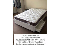 Brand NEW Silentnight Double-Divan Drawer Bases with mattress