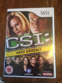 SOLD Wii CSI: Crime Scene Investigation HARD EVIDENCE Game