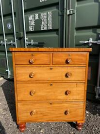 Victorian Mahogany Chest Delivery Available