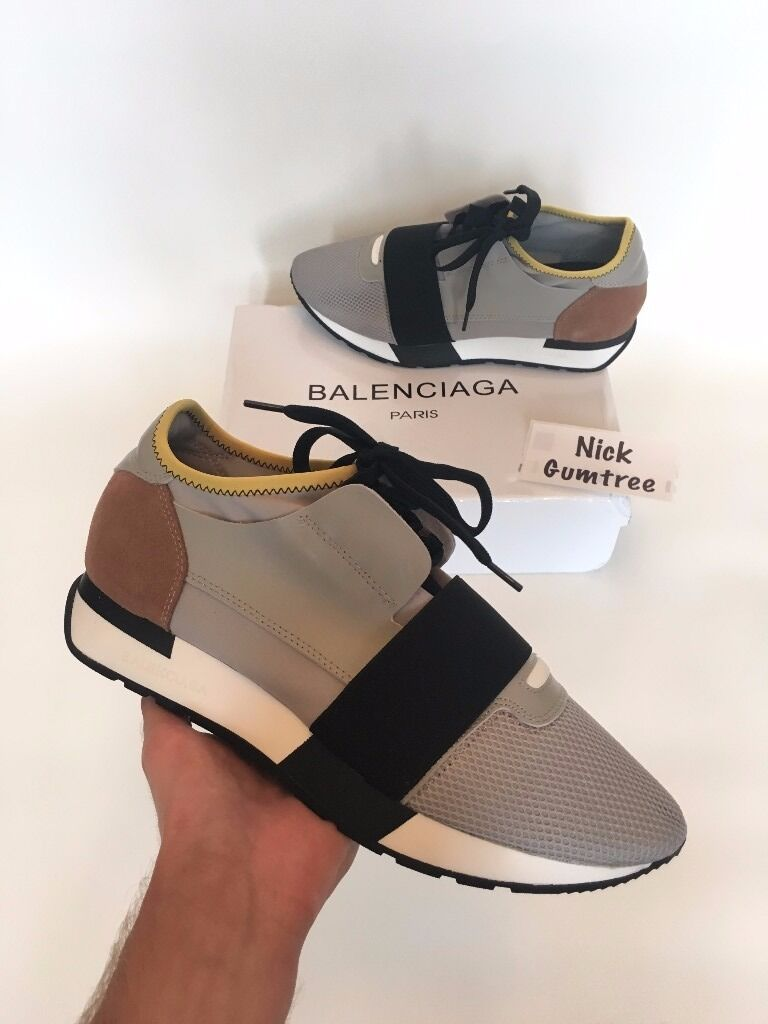 Balenciaga Race Runner Trainers Sneakers Womens Mens Grey Delivery   in Chelsea, London   Gumtree