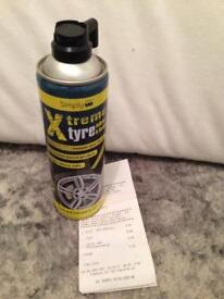 Tyre aerosol - Instant tyre repair canister.