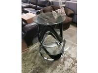 Black Glass coffee table & lamp stand