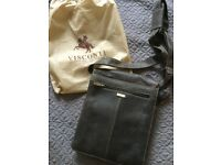 Men's leather Visconti messenger bag. Brand new.