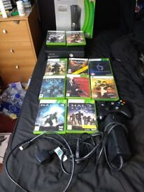 Xbox 360 with 10 games 250GB hard drive excellent condition