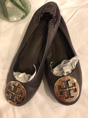 Tory Burch Women's Leather Brown reva Flats 7 (taco900