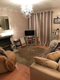 2 bed self contained flat in glenfield village with garage