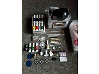 UV Lamp and nail art kit.