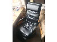Black Leather Reclining Office Chair (Used but Comfy)
