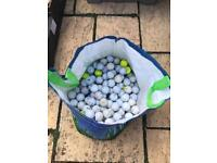 Giant bag of golf balls (120 approx)