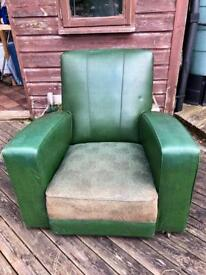 Pair of Retro Green Armchairs