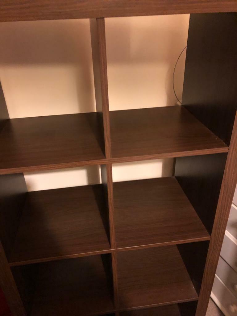 on sale e06f3 5e107 Ikea 2x4 cube Unit in Walnut | in Swindon, Wiltshire | Gumtree