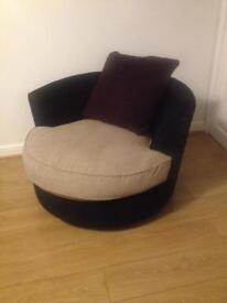 Swivel cuddle chair excellent
