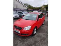 2008 VW POLO 1.4 MATCH 3 DOOR RED SEPT 2018 MOT 86K WITH S HISTORY TIMING BELT DONE ALLOYS CD EW EM