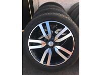 "Genuine Land Rover Range Rover landmark discovery 20"" alloys Pirelli scorpion tyres 6mm mint"