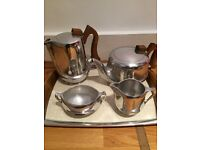 5 piece genuine picquot wear tea/coffee set with tray