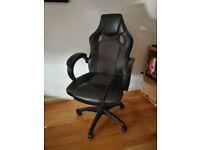 Swivel gamer-style office chair