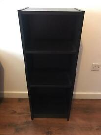 2x Ikea Black Shelves Storage Bookcase