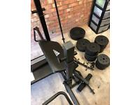 Weights bench and lots of weights...!