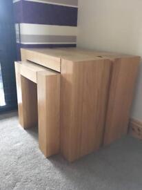 ******SOLD********** 3 piece solid oak living room furniture
