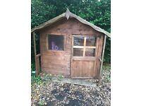 Children wooden playhouse