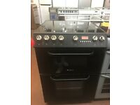 60CM BLACK ELECTRIC COOKER DOUBLE OVEN