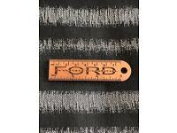 Alder wooden lasered key-ring for ford transit, volkswagen, landrover.