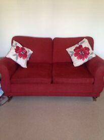 Laura Ashley red sofa