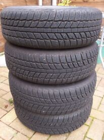 Fiat Wheels with Winter Tyres x 4