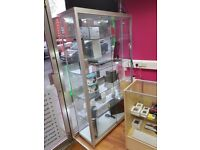 Full Glass Tall 1980mm x 1200mm x 400mm Display cabinet with 19 LED lights (2 available)