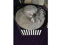 Beautiful grey wedding hat