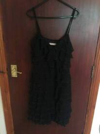 Pink label by gina bacconi black dress size 10