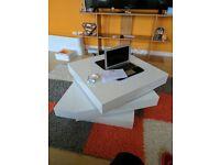 Rotating 3 tier Coffee table