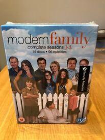 FINAL PRICE - Modern Family Seasons 1-4 DVD Box Set SEALED AND BRAND NEW