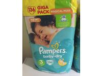 Pampers Baby Dry size 3 giga packs