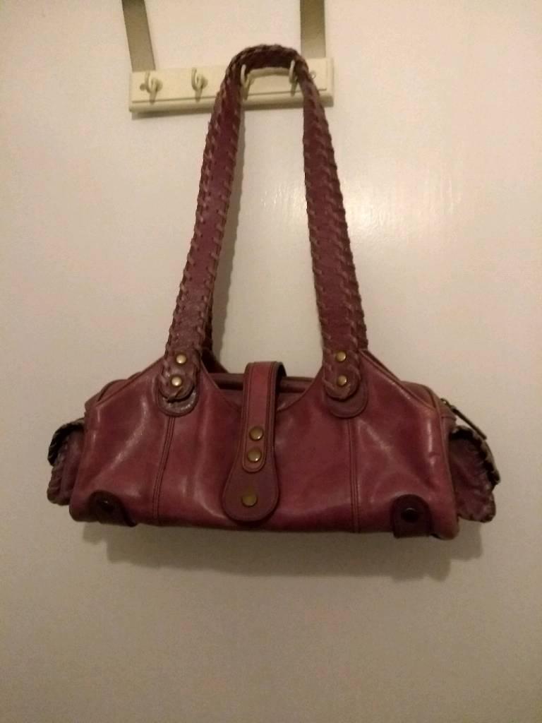 Danier Leather Purple Bag