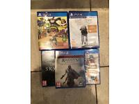 Ben 10 PS4 £10, Star Wars PS4 £5, assassins creed ezio PS4 £15