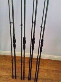 Nash venom 13ft 3.5lb mk2 carp rods x4