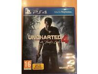 Uncharted 4 PS4 as new